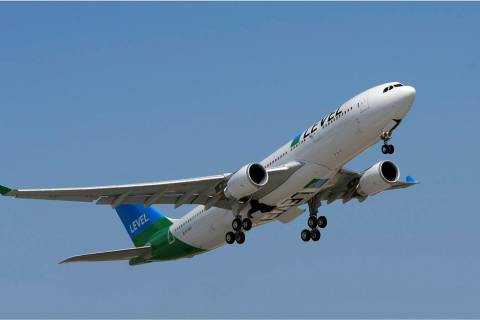 Level airline will begin weekly nonstop service Oct. 30 between Las Vegas and Paris. (Level)