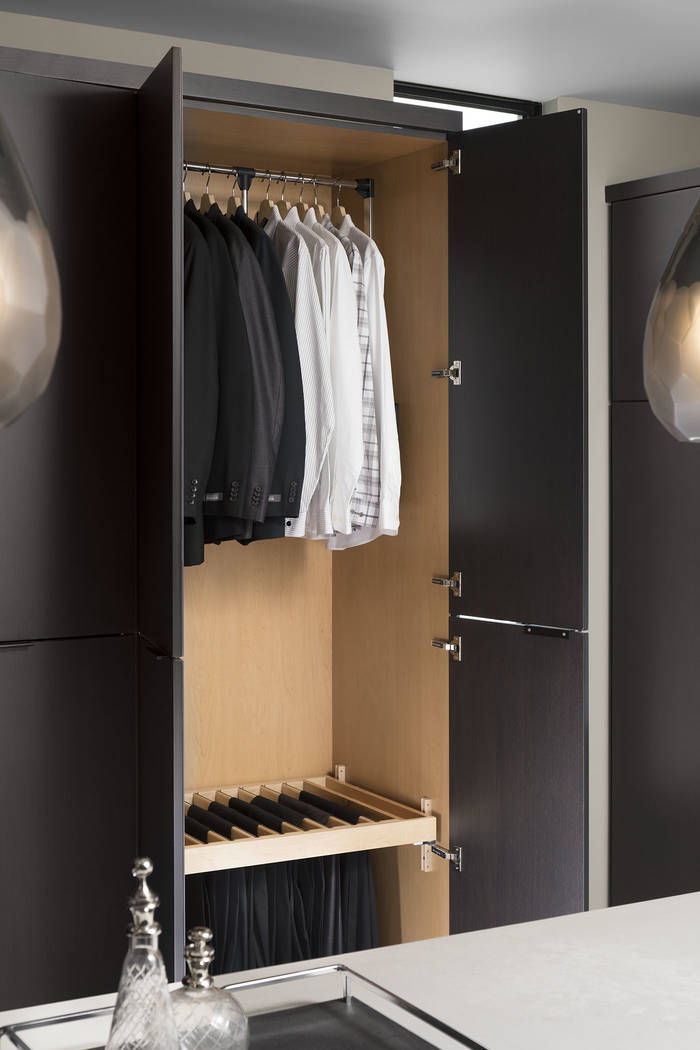 His closet. (Studio G Architecture)
