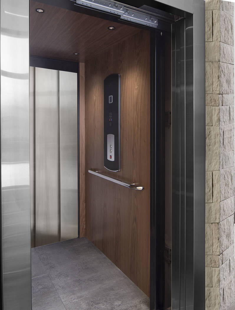 The elevator connects the two stories. (Studio G Architecture)