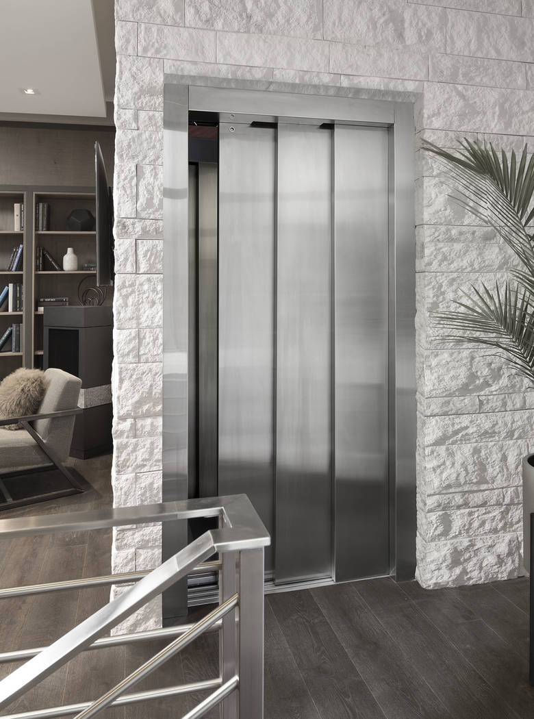 The elevator has a modern design. (Studio G Architecture)