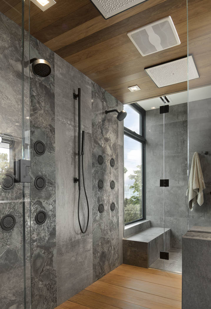 The master bath features a large shower. (Studio G Architecture)