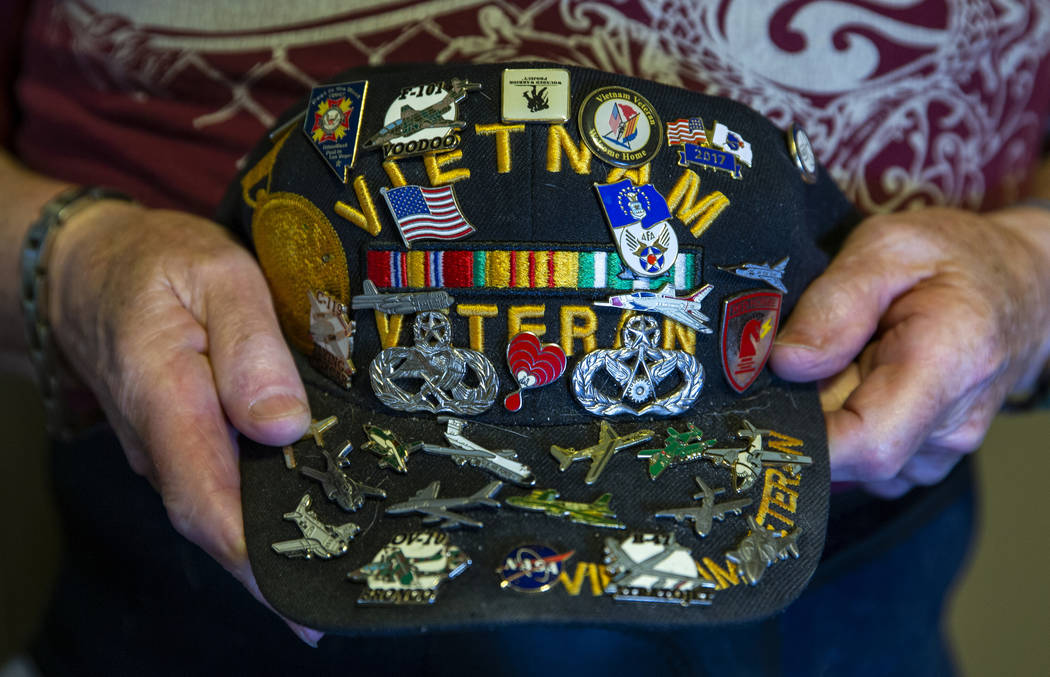 Clifford Smith, a Vietnam veteran who served two tours, has children in the service and a famil ...