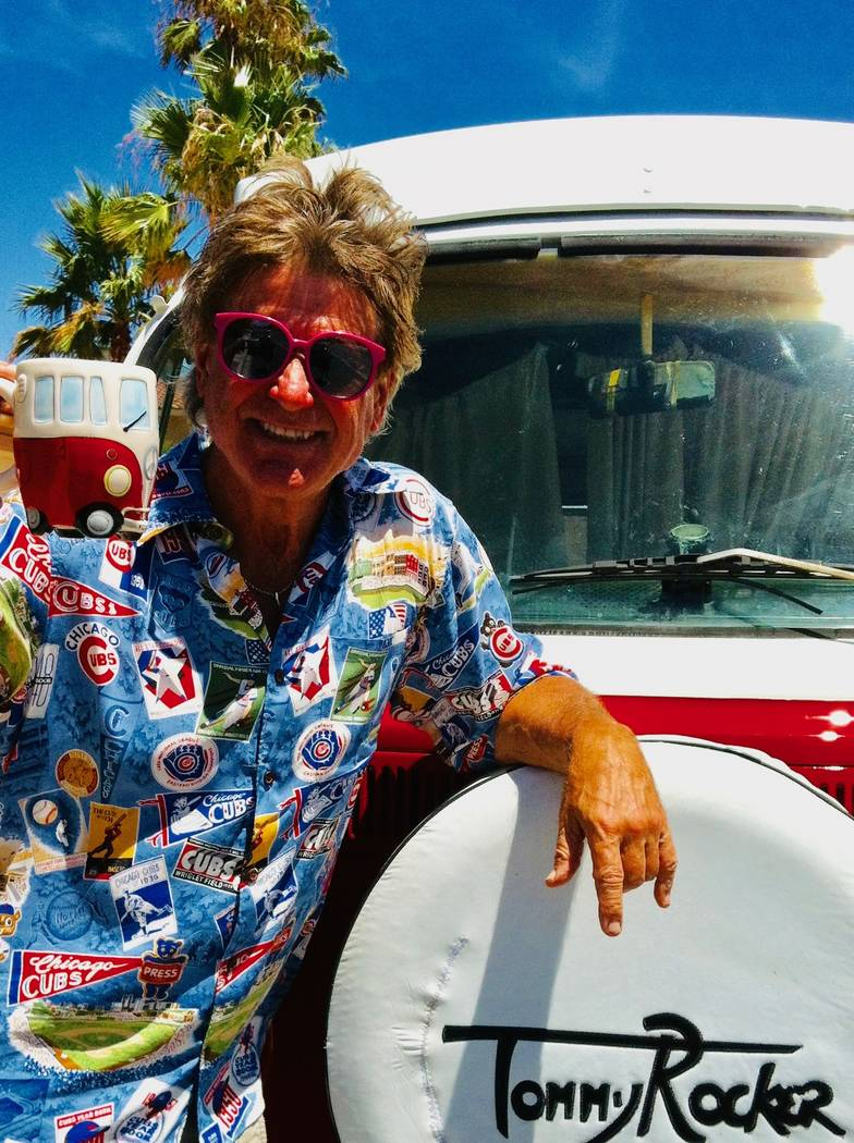 Tommy Rocker is shown with his 1970 VW Bus, and corresponding mug. (Tommy Rocker)