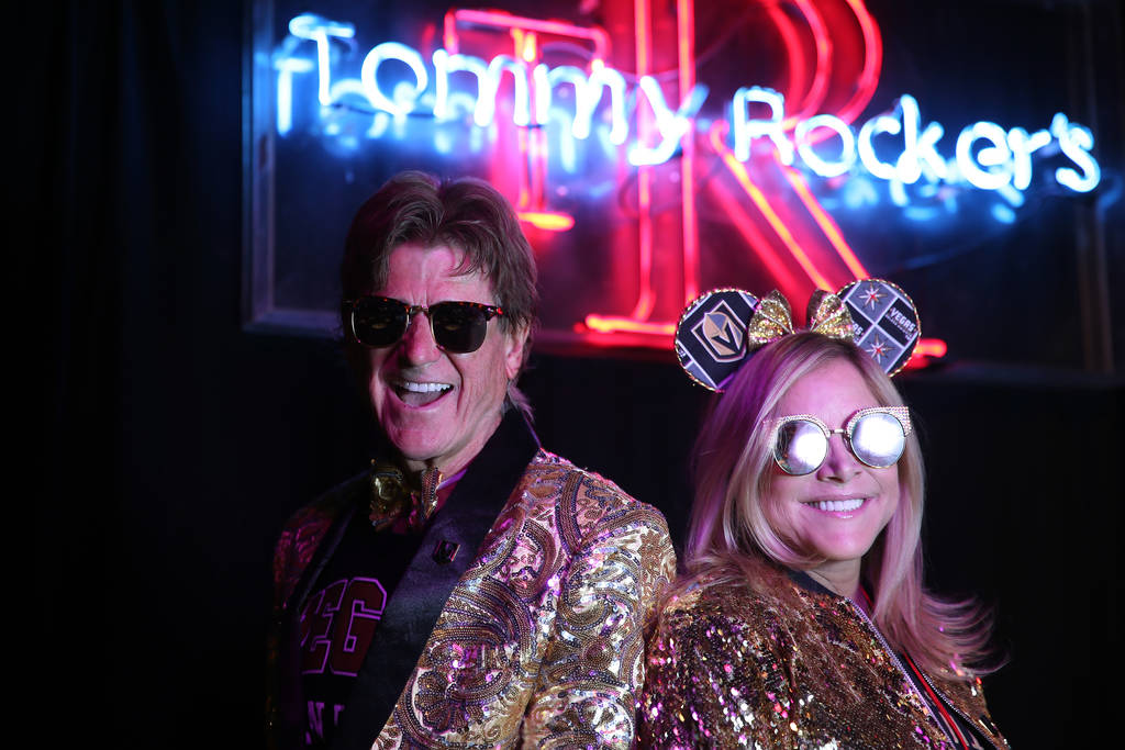 Tommy Rocker, left, and his wife Donna, owners of Tommy Rocker's in Las Vegas, are photographed ...