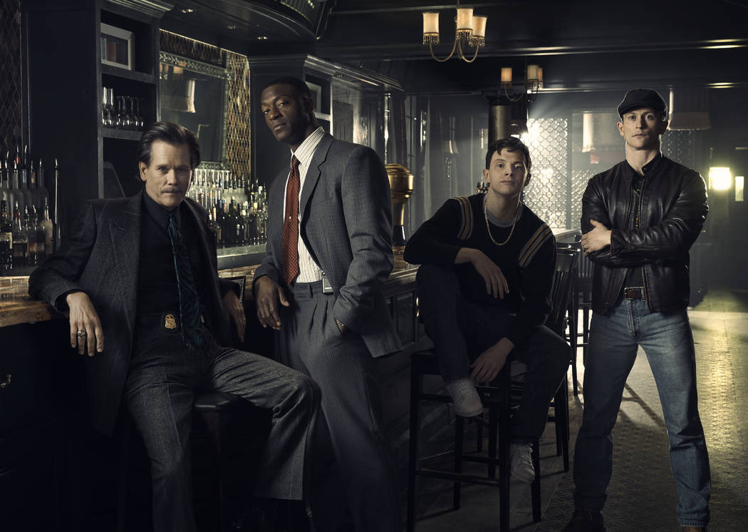 Kevin Bacon as Jackie Rohr, Aldis Hodge as Decourcy Ward, Mark O'Brien as Jimmy Ryan and Jonath ...