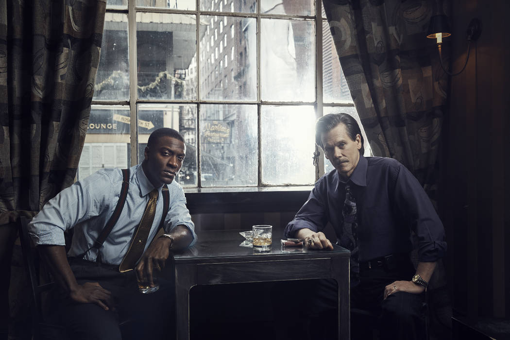 Aldis Hodge as Decourcy Ward and Kevin Bacon as Jackie Rohr in CITY ON A HILL. Photo: Eric Ogde ...
