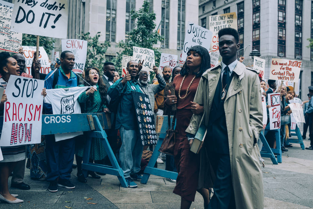 "Aunjanue Ellis and Ethan Herisse star in ""When They See Us."" (Atsushi Nishijima/Netflix)"