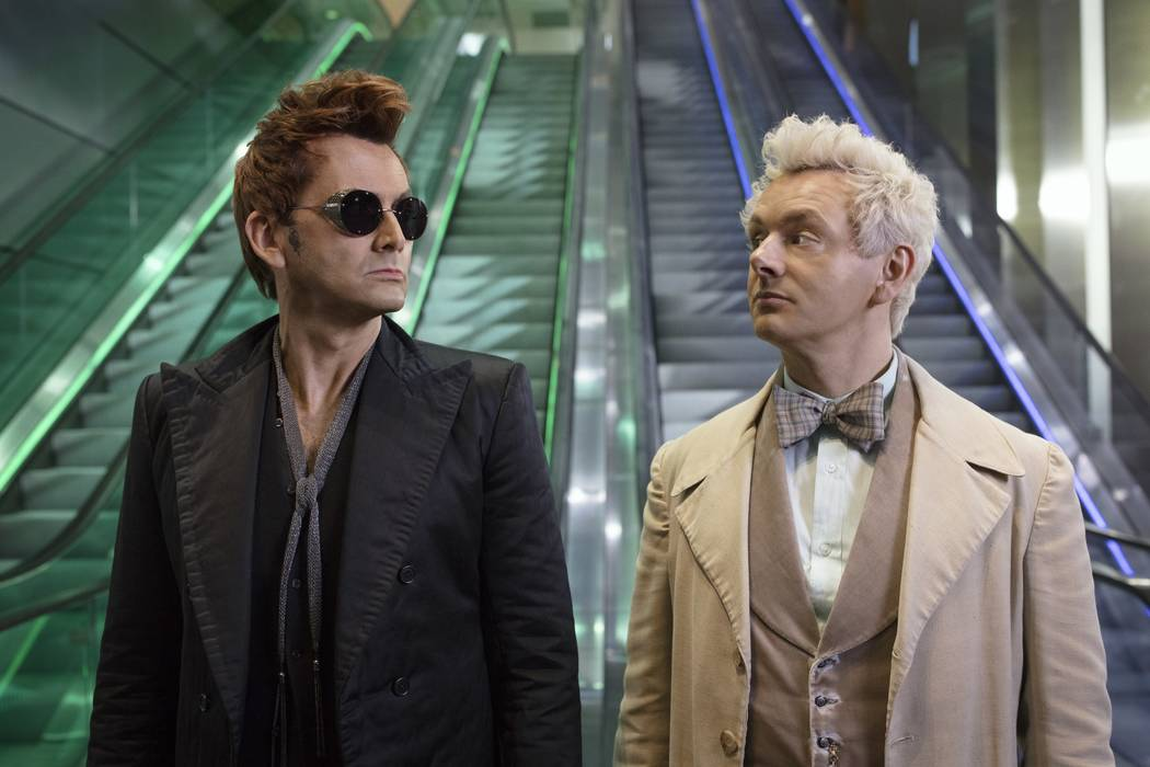 "David Tennant and Michael Sheen star in ""Good Omens."" (Sophie Mutevelian/Amazon)"