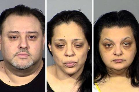 David Marks, left, Peaches Marks and Sherry Marks (Las Vegas Metropolitan Police Department)