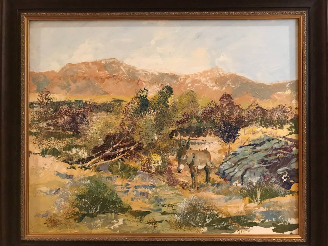 """""""Jackson,"""" a painting by Rob Tuvell. Tuvell is the featured artist at Red Rock Canyon Conservat ..."""
