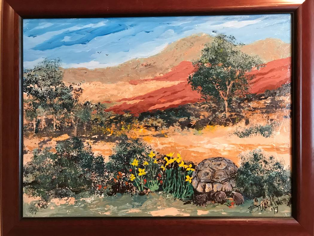 """""""Maxine,"""" a painting by Rob Tuvell. Tuvell is the featured artist at Red Rock Canyon Conservati ..."""