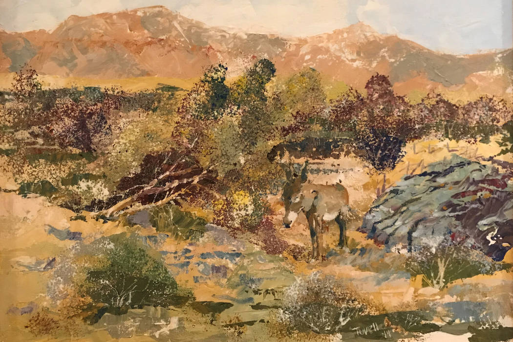 """""""Jackson,"""" a painting by Rob Tuvell. Tuvell is the featured artist at Red Rock Canyon ..."""