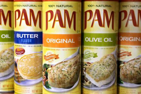 FILE - This March 24, 2010 file photo shows Pam cooking spray at the Heinen's grocery store in ...