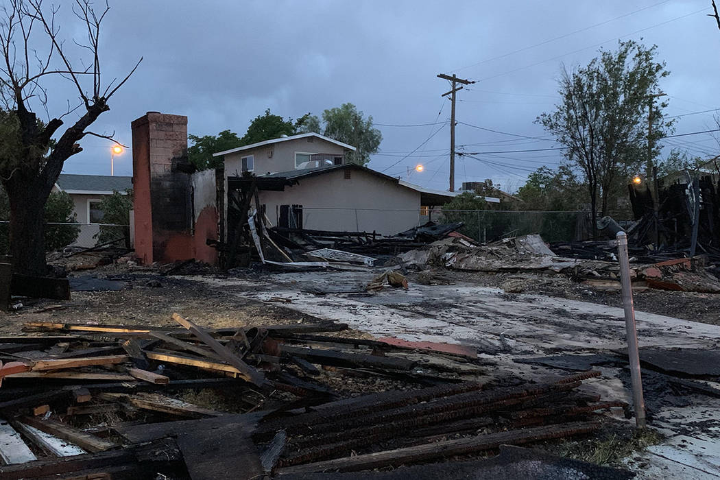 Nobody was injured early Thursday, May 9, 2019, when a vacant home was destroyed by fire at 250 ...