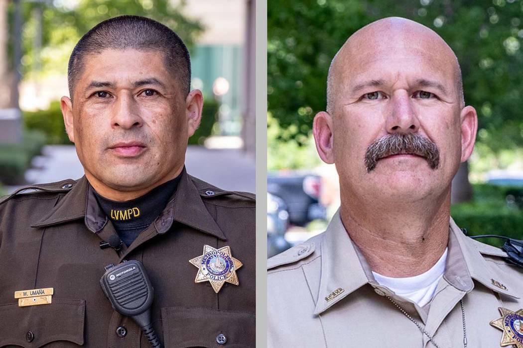 Officers William Umana, left, and Paul Solomon. (Las Vegas Metropolitan Police Department)