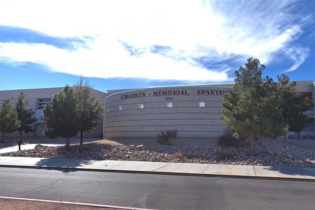 Cimarron-Memorial High School in Las Vegas (Google Street View)