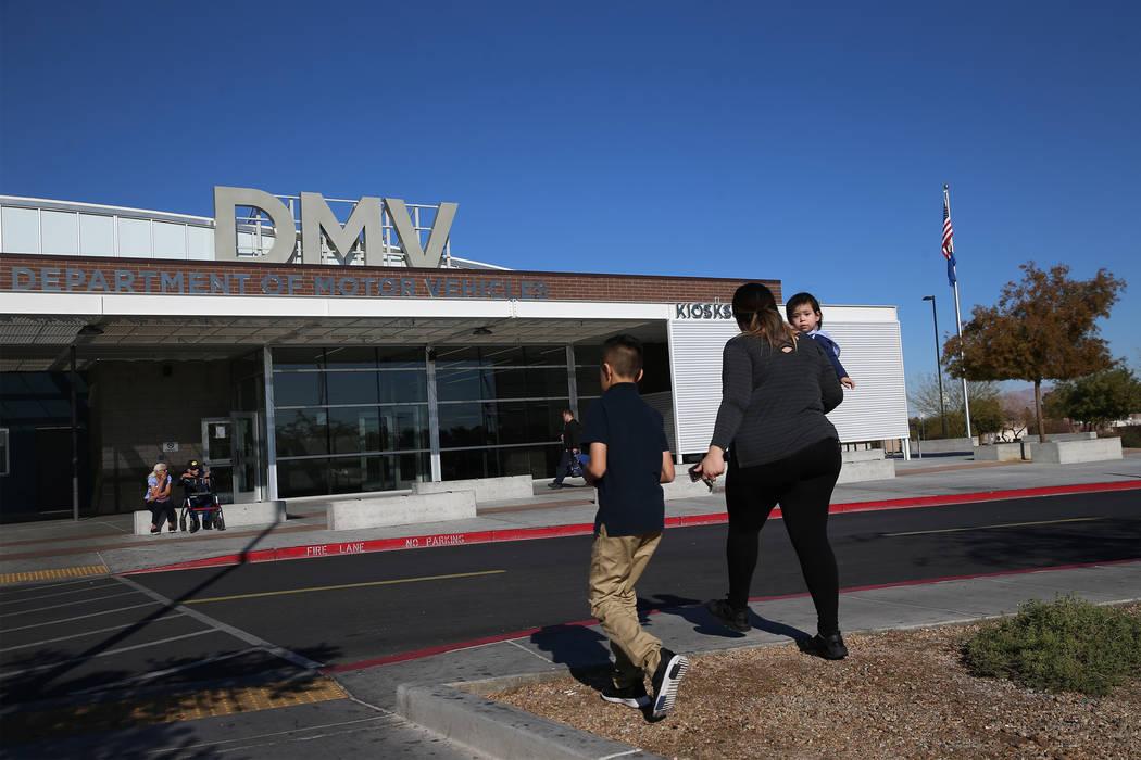 The Nevada Department of Motor Vehicles on East Sahara Avenue in Las Vegas. (Erik Verduzco/Las ...