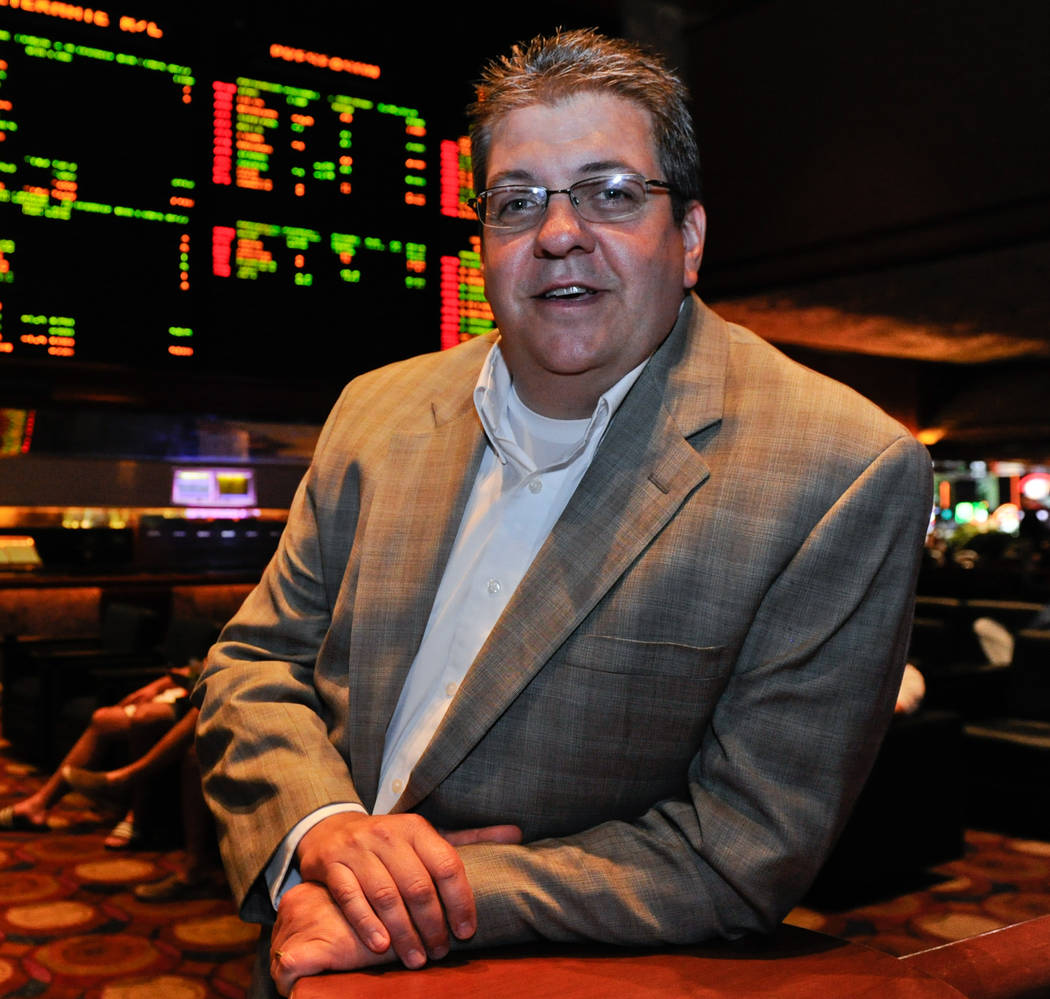 MGM Resorts Sports Book Director Jay Rood poses for a portrait in the Race & Sports Book at ...