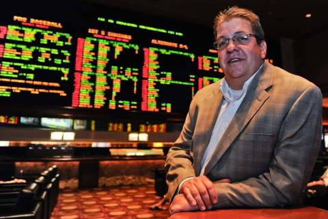 MGM Resorts Sports Book Director Jay Rood poses for a portrait at the Mirage Race & Sports Book ...