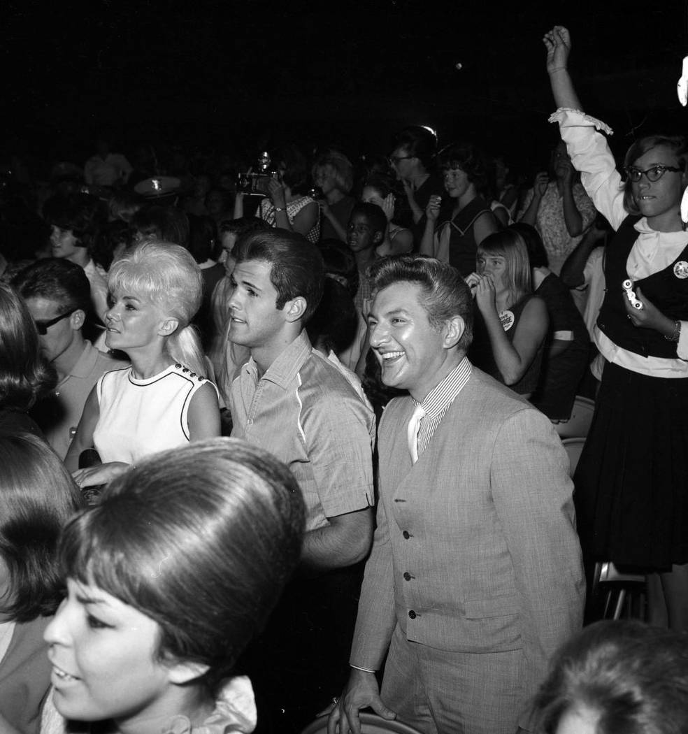 Liberace and friends watch the Beatles on Aug. 20, 1964, at the Las Vegas Convention Center. (L ...