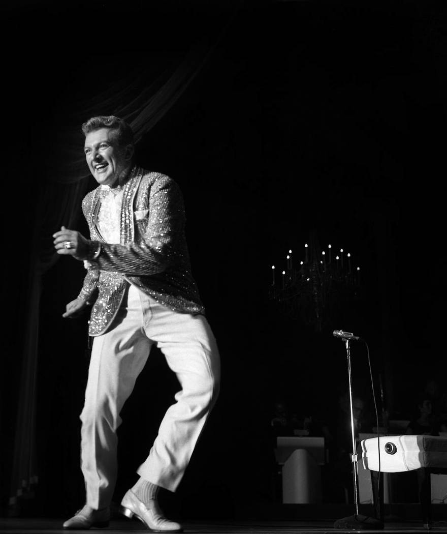 Liberace performed with Barbra Streisand at the Riviera in Las Vegas, Nevada, July 2, 1963. (La ...