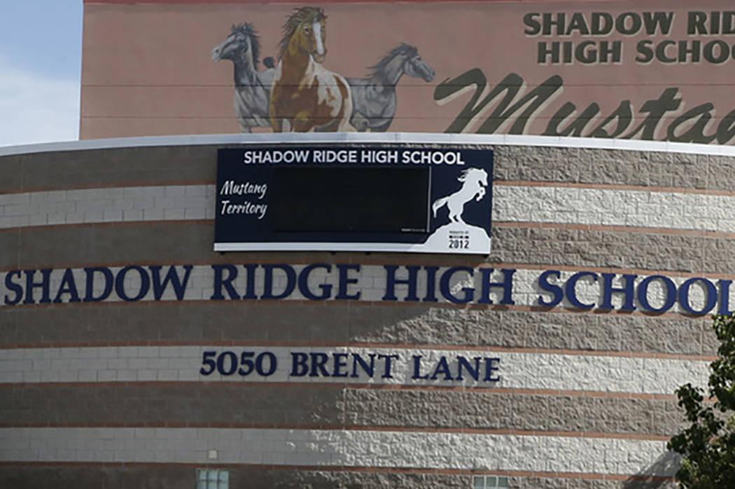 Shadow Ridge High School in Las Vegas. (Las Vegas Review-Journal)