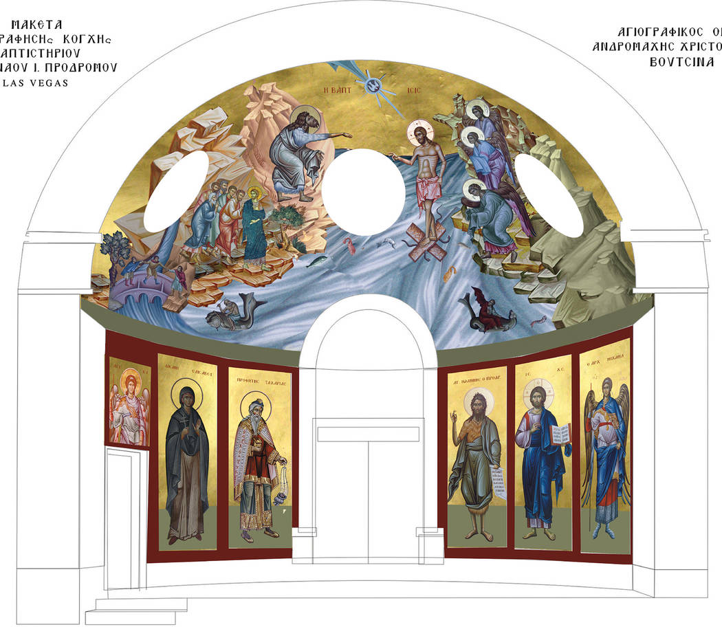 A rendering of the icons to be placed in one corner of the church. (Karen Rawlinson/St. John th ...