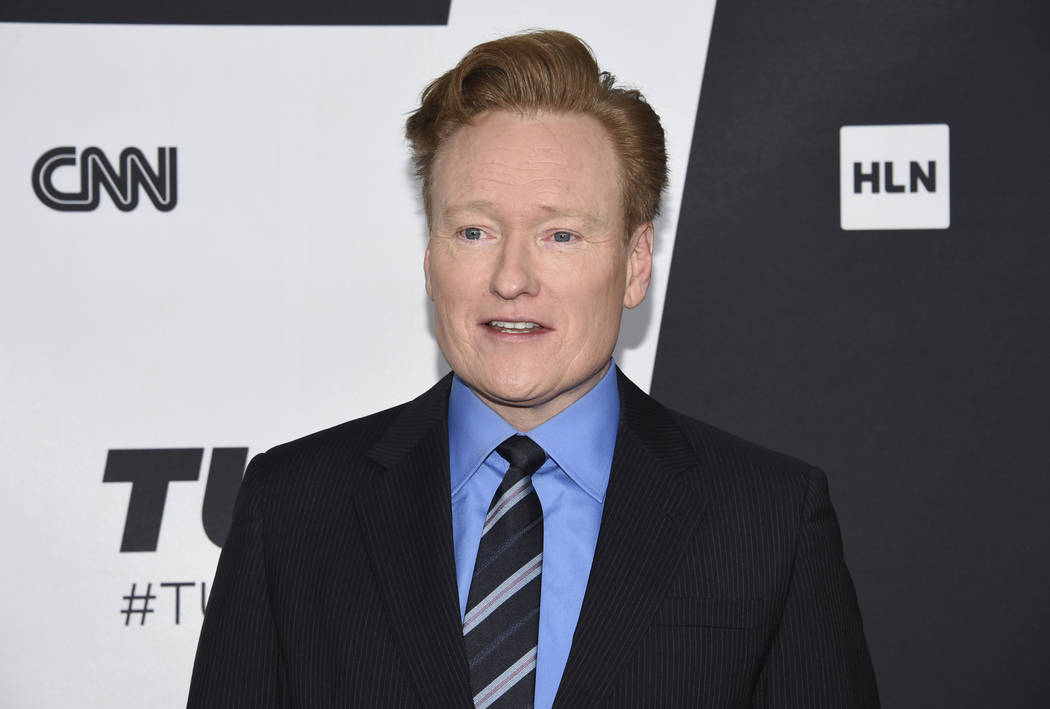 FILE - This May 16, 2018 file photo shows Conan O'Brien at the Turner Networks 2018 Upfront in ...