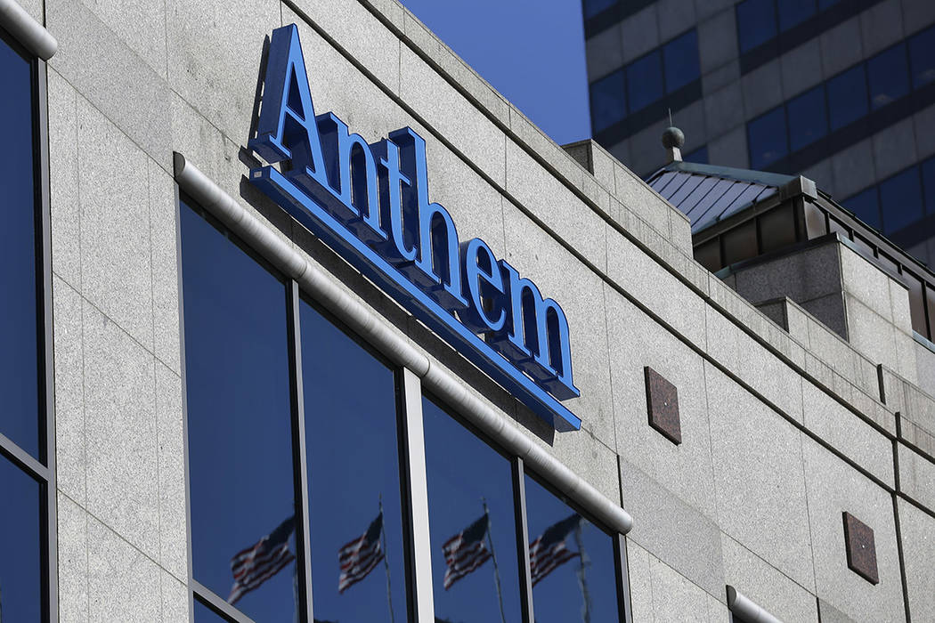 FILE - This Feb. 5, 2015, file photo shows the Anthem logo at the health insurer's corporate he ...