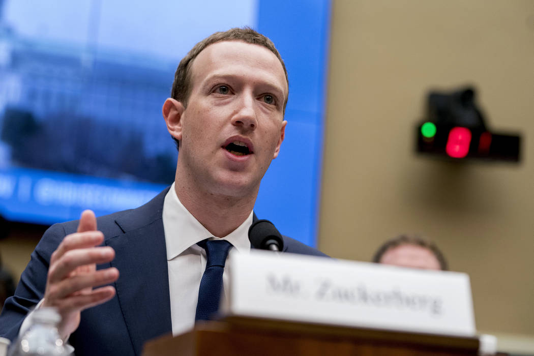 acebook CEO Mark Zuckerberg testifies April 11, 2018, before a House Energy and Commerce hearin ...