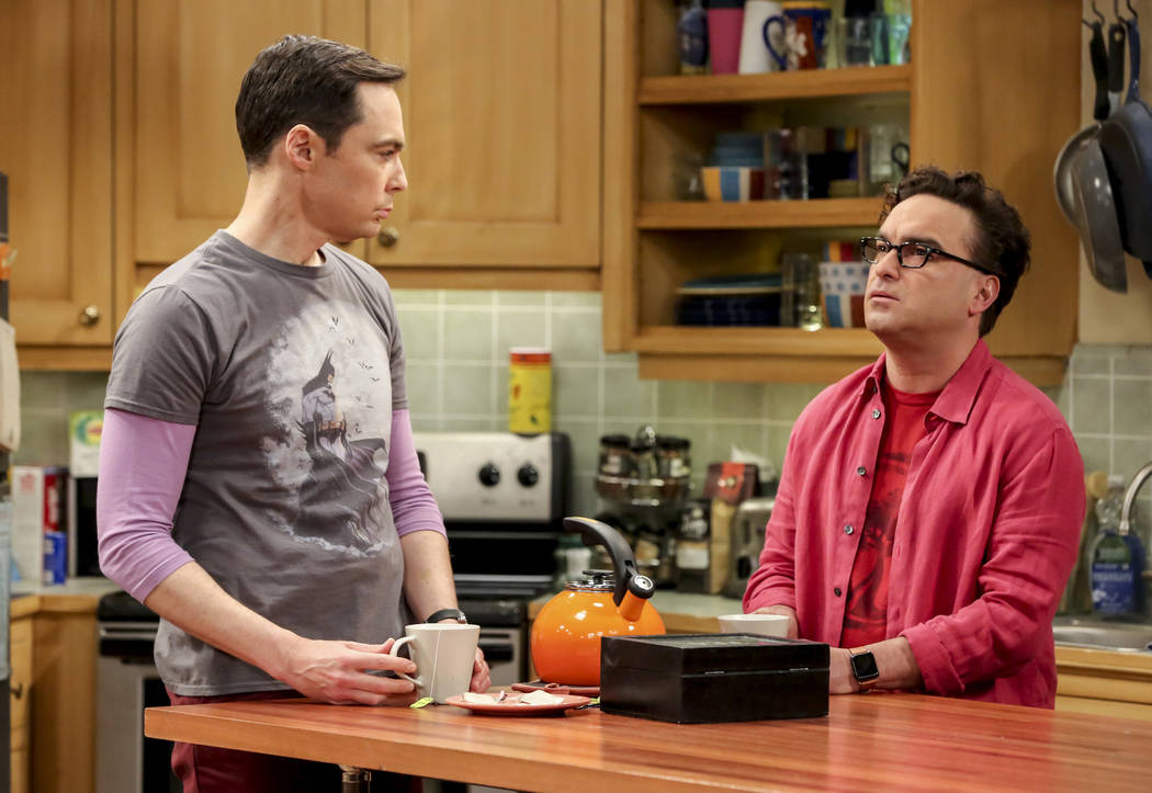 """""""The Maternal Conclusion"""" -- Pictured: Sheldon Cooper (Jim Parsons) and Leonard Hofst ..."""