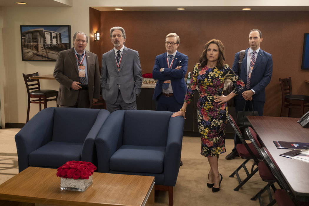 """Kevin Dunn, Gary Cole, Andy Daly, Julia Louis-Dreyfus, Tony Hale in """"Veep."""" (Colleen ..."""