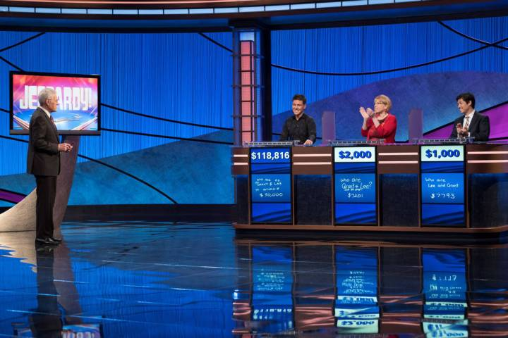 James Holzhauer, a 34-year-old professional sports gambler from Las Vegas, is shown after April ...