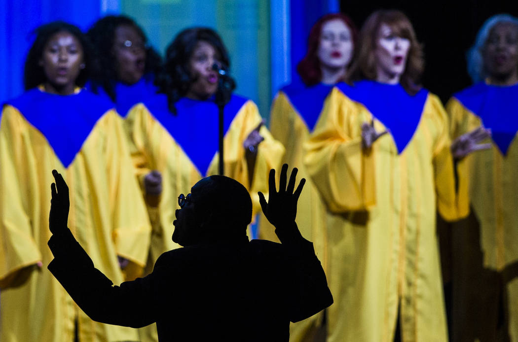The Las Vegas Mass Choir performs at the 14th Annual HRC Las Vegas Dinner on Saturday, May 11, ...