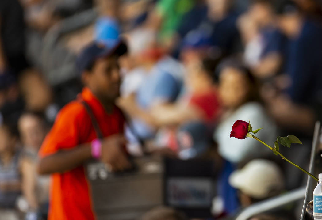 Aviators mom fans received a free rose for Mother's Day for the game versus the Tacoma Rainiers ...