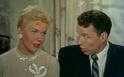 """Doris Day and Frank Sinatra co-star in the 1955 musical soap opera """"Young at Heart."""""""