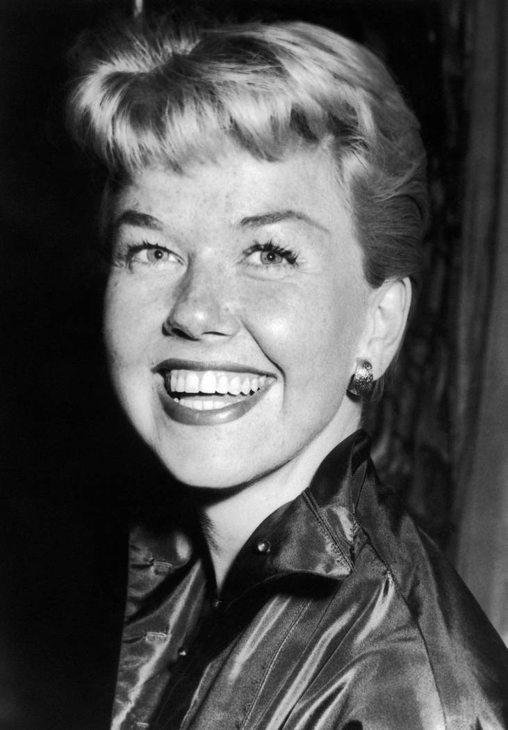 Film actress and singer Doris Day, April 12, 1955. Day, whose wholesome screen presence stood f ...