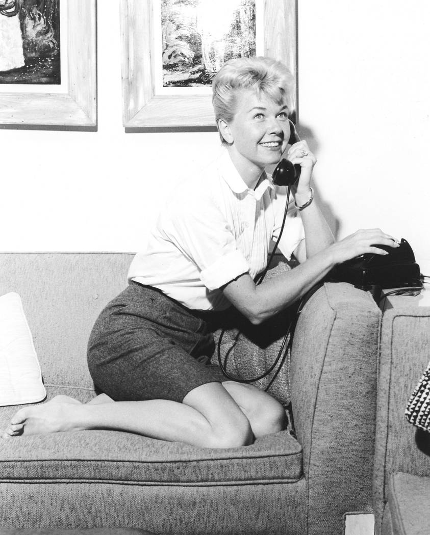 Doris Day was photographed at the Sahara Hotel in 1956, the same year she had her breakthrough ...