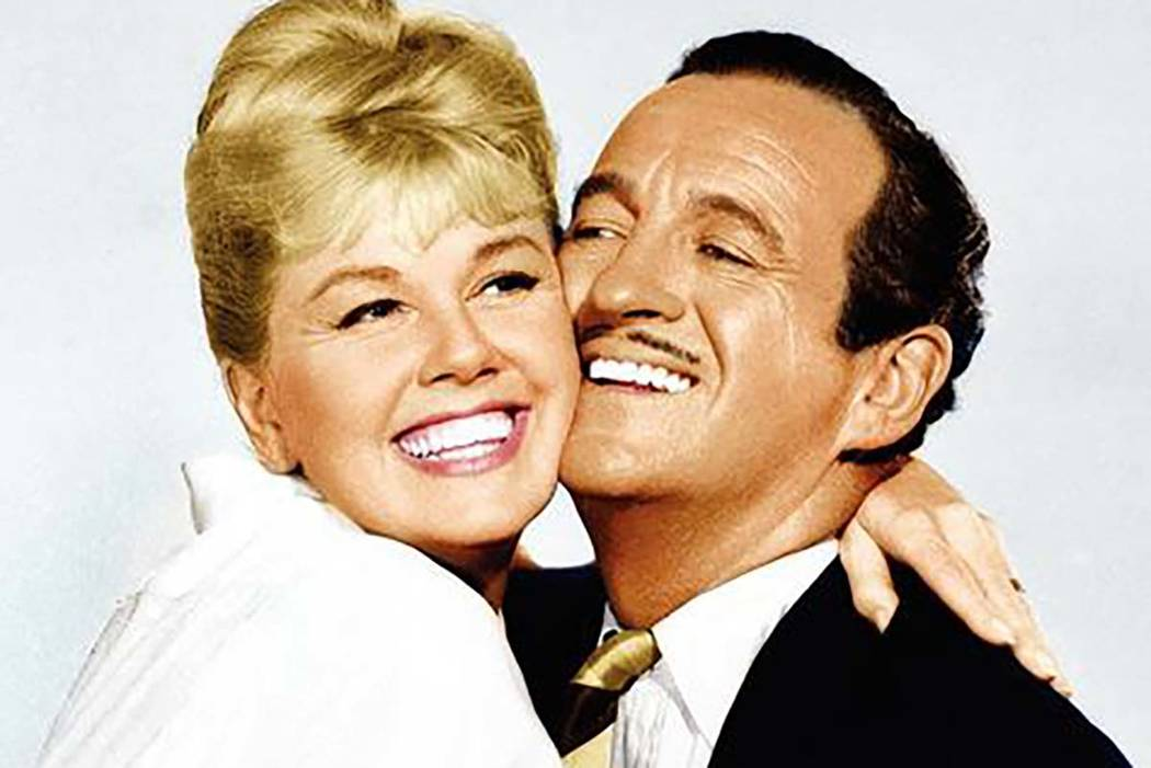 "Doris Day and David Niven play a married couple in the domestic comedy ""Please Don't Eat the Da ..."