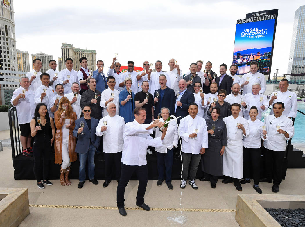 LAS VEGAS, NEVADA - MAY 09: Chef Bruce Bromberg (front) marks the beginning of the 13th annual ...