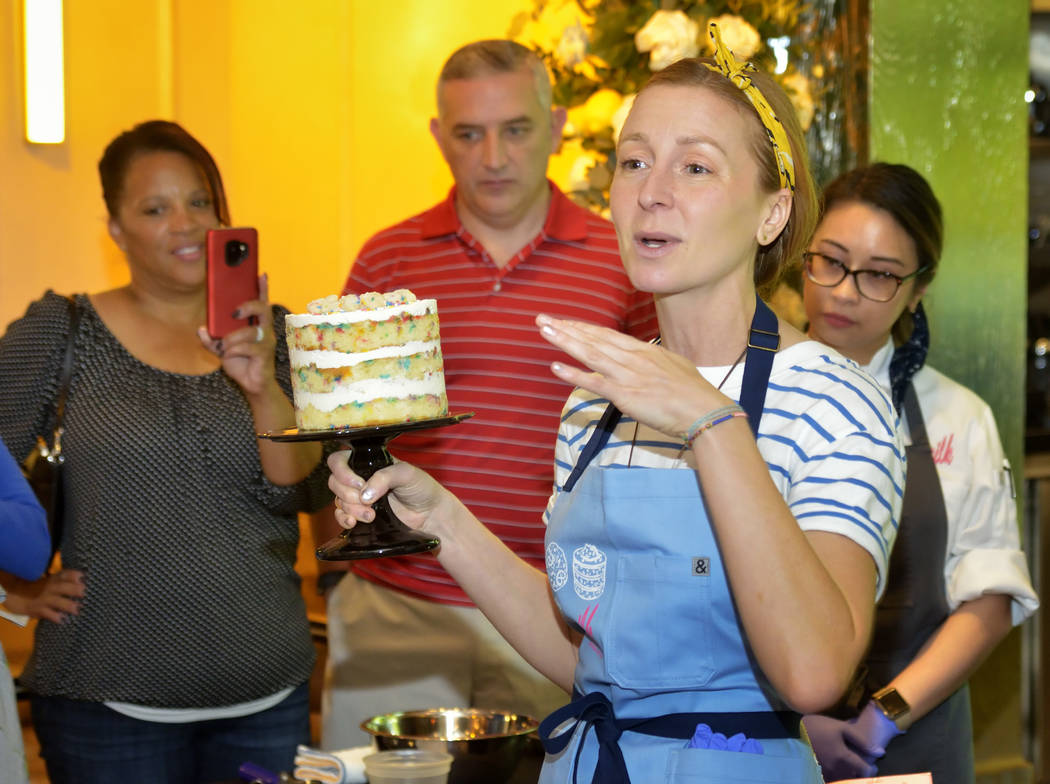 Chef Christina Tosi of Milk Bar is shown during a pastry-making demonstration at Rose. Rabbit. ...