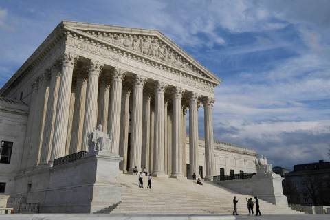 A March 15, 2019, view of the Supreme Court in Washington. The Supreme Court decided Monday th ...