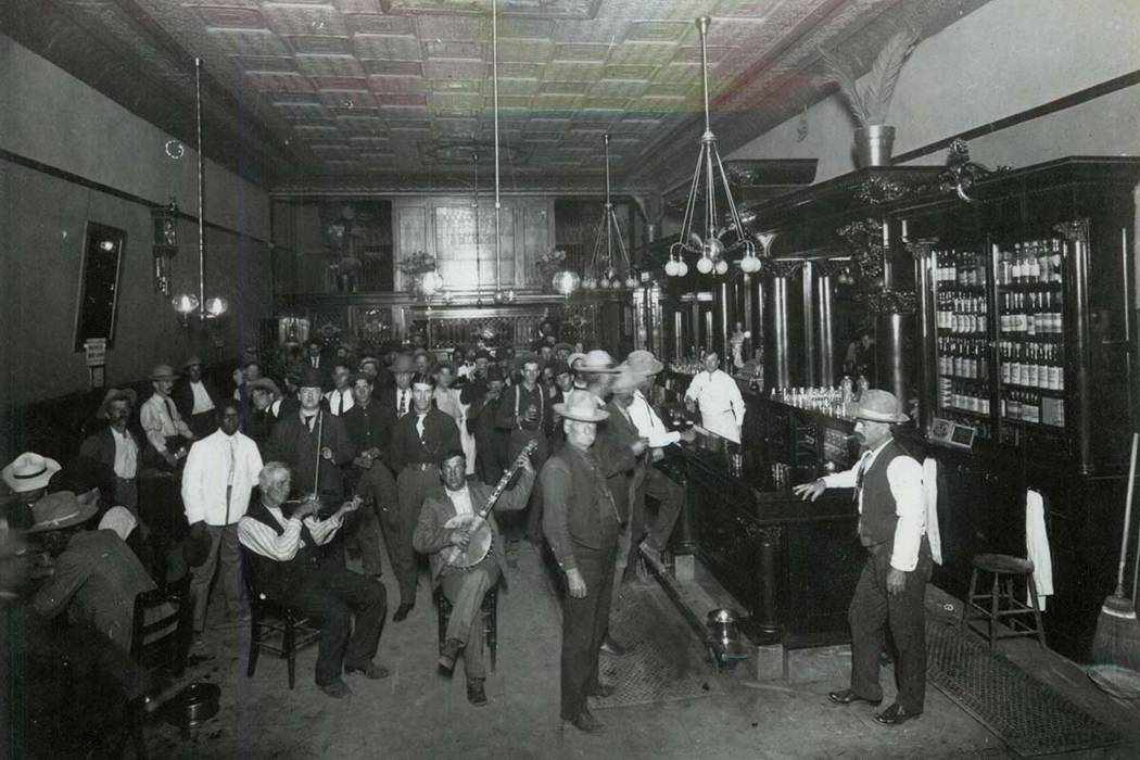 Interior of the Arizona Club in Las Vegas, circa 1912 (Helen J. Stewart Collection/UNLV Library)