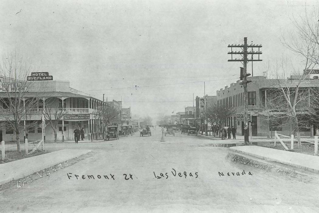 Undated photo of Fremont Street in Las Vegas.(Rockwell Collection/UNLV Library)