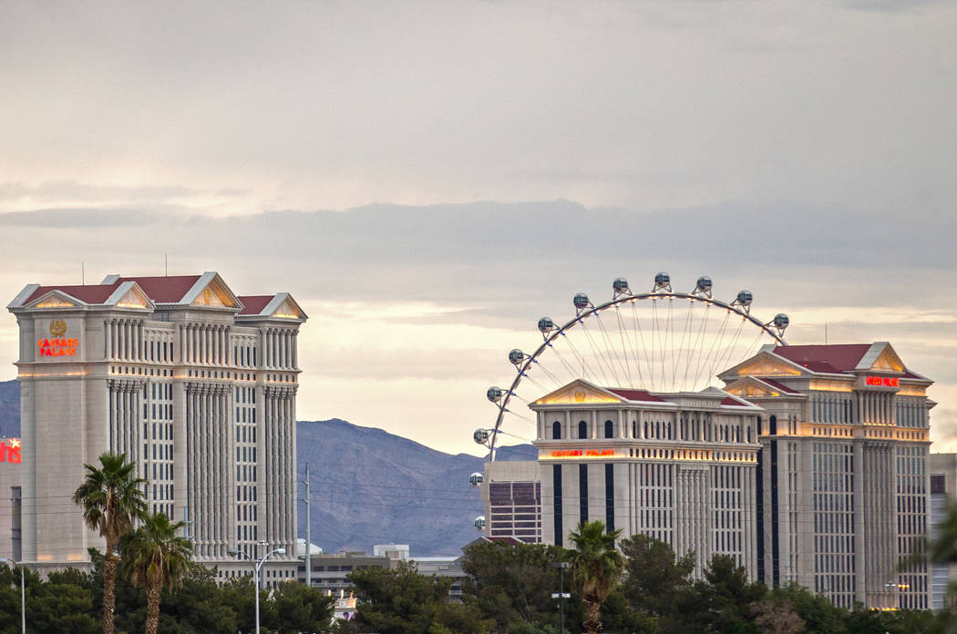 Caesars Palace on the Strip on Thursday, May 9, 2019, in Las Vegas. (Benjamin Hager/Las Vegas R ...