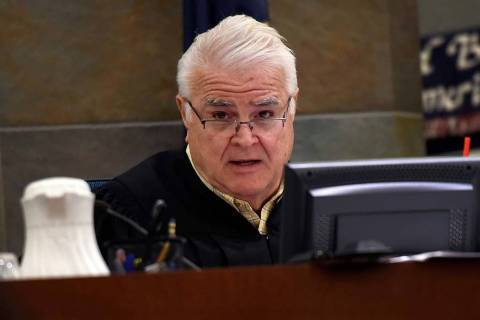 District Judge Douglas Smith presides over a penalty hearing at the Regional Justice Center on ...