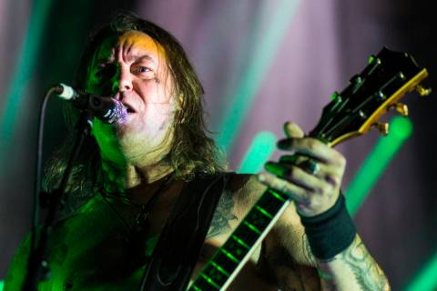 Matt Pike of High on Fire performs at The Joint during the Psycho Las Vegas music festival at t ...