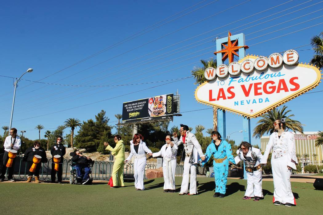 Jesse Garon, the official Elvis of Las Vegas performed Jan. 8, 2015, at the Welcome to Fabulous ...