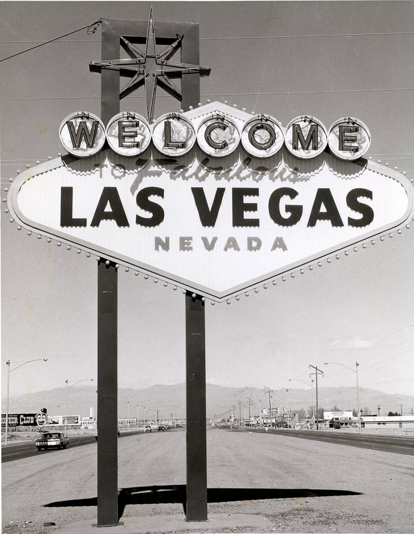 The Welcome to Fabulous Las Vegas Nevada sign, designed by Betty Willis, is shown at the city l ...