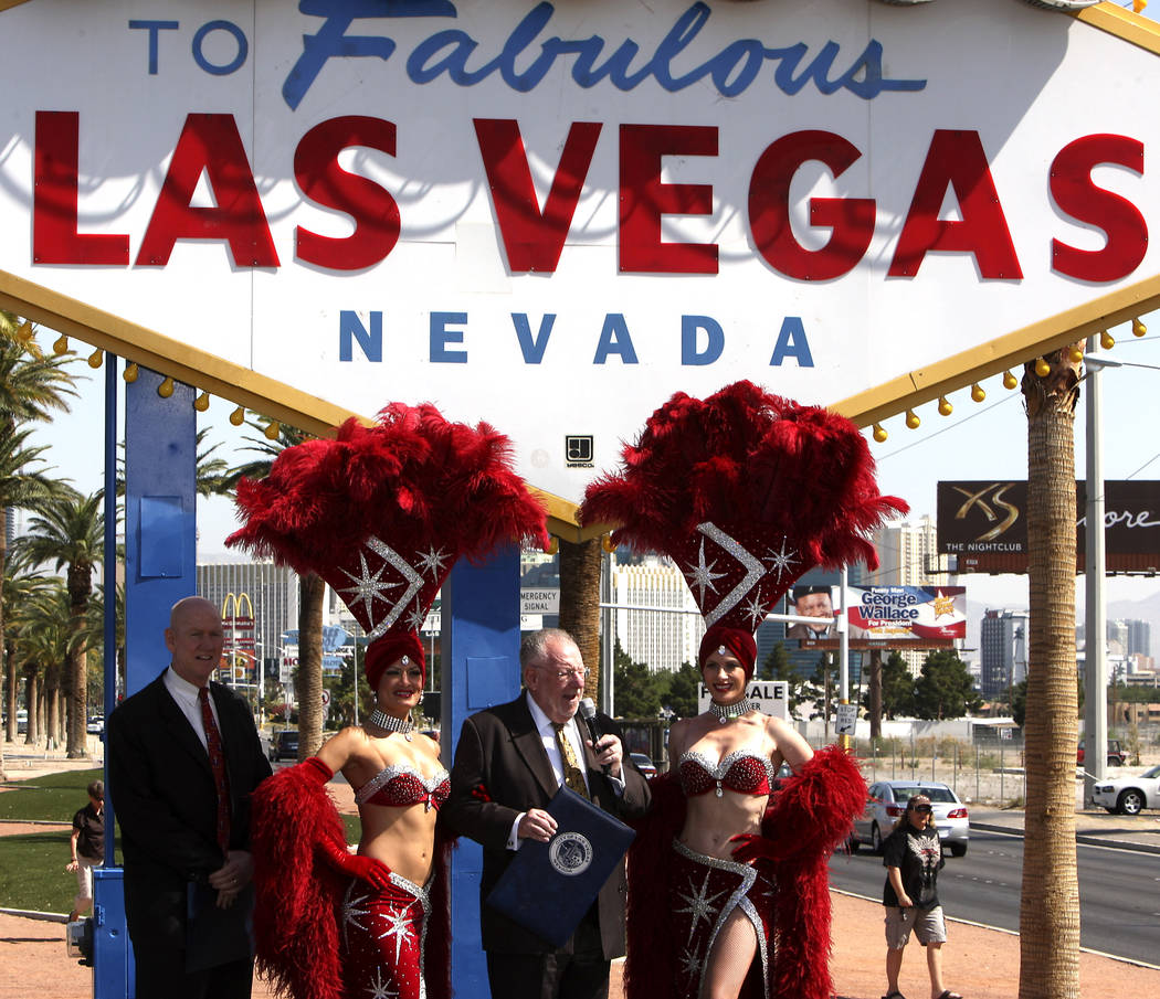 Las Vegas Mayor Oscar Goodman along with Clark County Commissioner Larry Brown made a proclamat ...